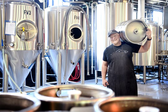 12 Bones Brewing Brewmaster Scott Hetig has already created 10 beers for the new brewery's opening on May 1, 2019 with even more planned.