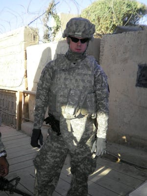 """Justin """"Goose"""" Shelton has risen to the rank of Sergeant after 12 years in the U.S. Army."""