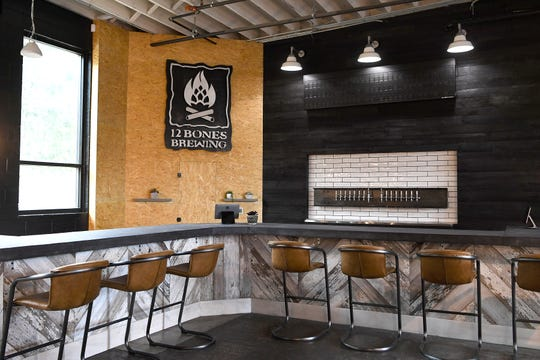 The new 12 Bones Brewing is scheduled to open adjacent to the restaurant's new Arden location on Hendersonville Road on May 1, 2019. The brewery will have 10 of their own beers available with more to come.