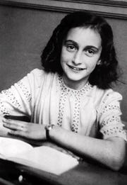 Anne Frank (left photo), the young Jewish girl whose diary of hiding from the Nazis in a Dutch attic came to symbolize the horror of the Holocaust.