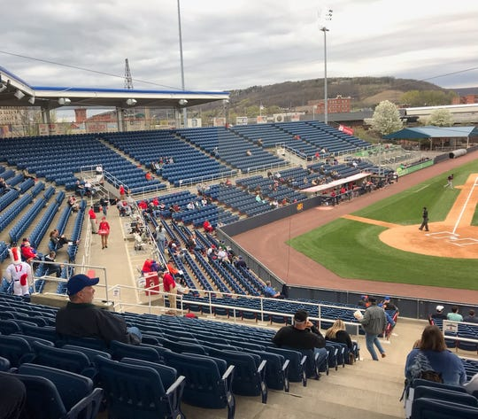 The Binghamton Rumble Ponies were no-hit by the Portland Sea Dogs at NYSEG Stadium in Binghamton on April, 25, 2019.