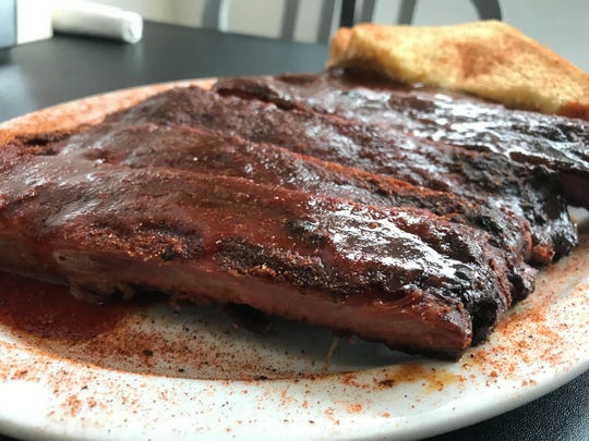 Pork ribs are served at the BelAir BBQ Diner in Endicott.