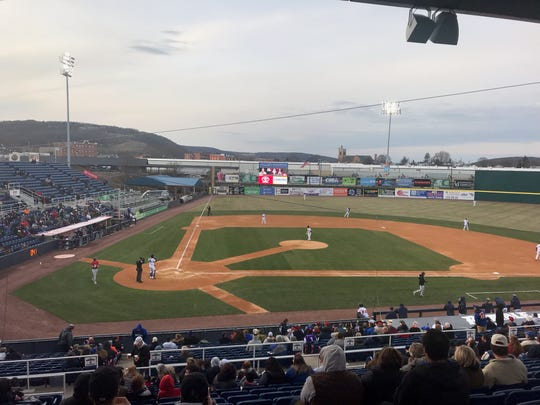 The Binghamton Rumble Ponies' home opener on April 11.
