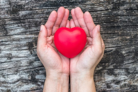 Your heart is in your hands.