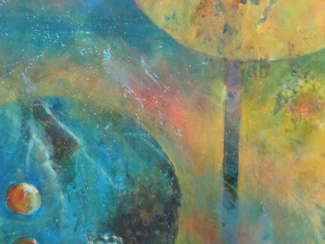 """Moving from Dark into Light, a piece by Donna Davis, will be on display as part of the """"Passages:  A Journey Through Place and Space"""" exhibit, which opens at the Red House Gallery on May 10."""