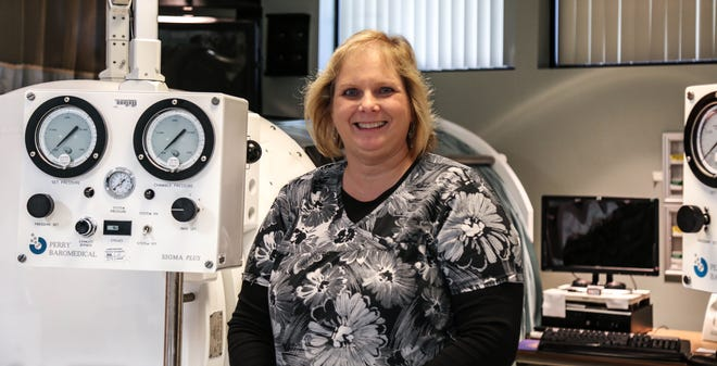 Sherry Broadbent is a Registered Nurse working in the Parrish Wound Healing Center in Port St. John and Titusville.