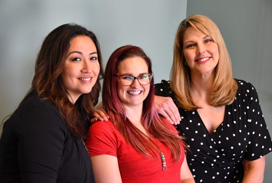 Tina Lange, founder with board members Kristin Wallace and Kristy Losapio of the Postpartum Support Network.