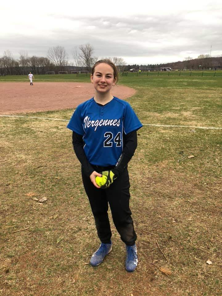 Audrey Tembreull of Vergennes softball