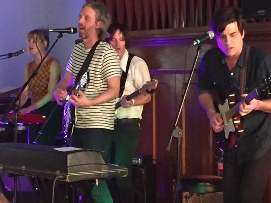 Pop-rock band The Essex Green, shown performing at the 2018 Waking Windows festival, returns to Winooski for a show Friday, May 3.