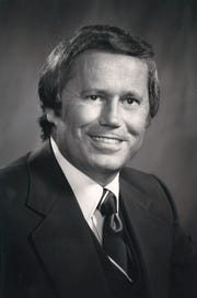 Ed Hicks  in 1978, the first year he sponsored the Corpus Christi Beach to Bay Relay Marathon.