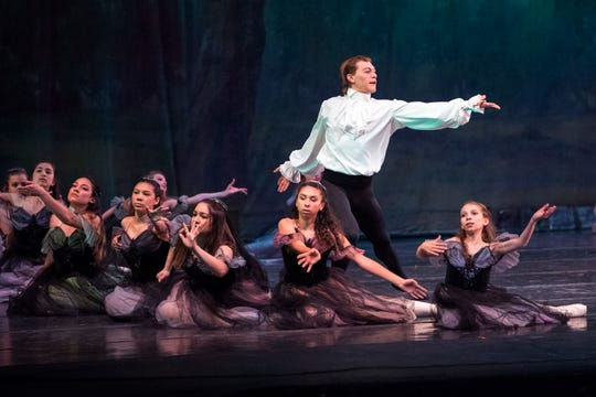 Dancers perform in the Corpus Christi Ballet's Dracula during at the Selena Selena Auditorium on Friday, April 26, 2019.