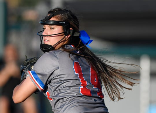 Carroll faces Gregory-Portland in a softball game, Thursday, April 25, 2019, at Cabaniss Softball Field.