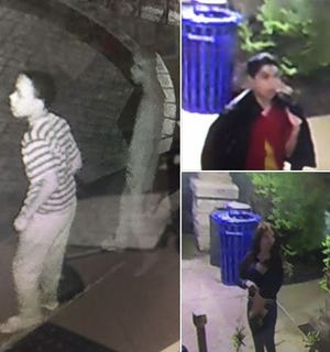 Police are looking for three suspects who allegedly attempted to set fire to the Mount Healthy Recreation Center.