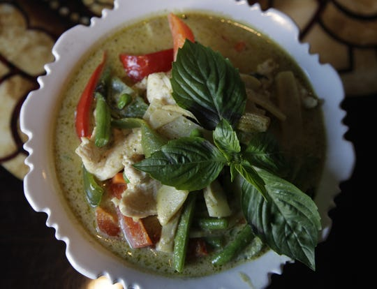 Green Curry. Food from Teak in Mt. Adams.  The Enquirer/Michael E. Keating