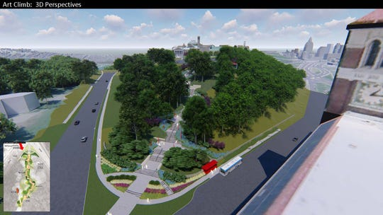 Construction will begin in June on the Art Climb, stairs leading from Walnut Hills to the Cincinnati Art Museum.