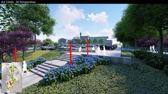 Construction is set to begin in June on a staircase leading from Walnut Hills to the Cincinnati Art Museum in a project called the Art Climb.