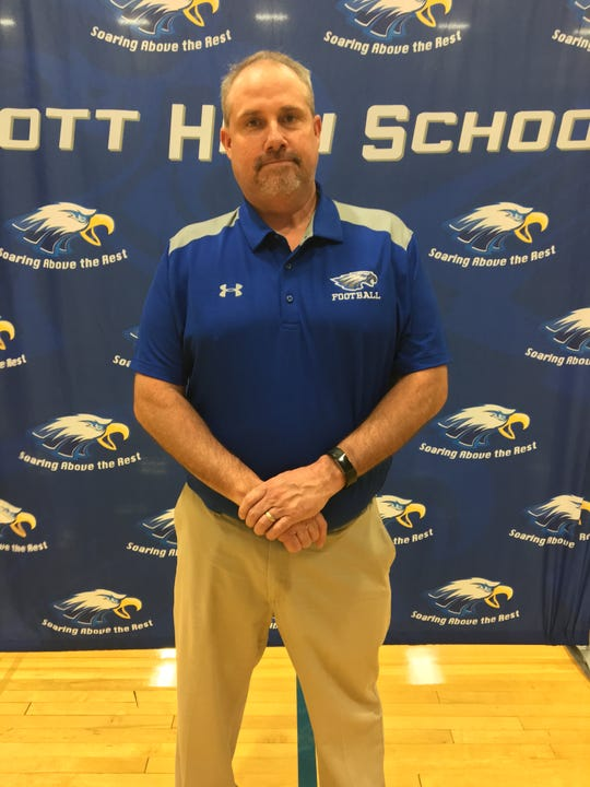 Eric Turner is introduced as Scott's new head football coach, April 25, 2019.