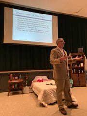 "Timothy P. McMahon, senior special agent/supervisory special agent at the Drug Enforcement Administration, presented ""Hidden In Plain Sight"" at The Wardlaw+Hartridge School."