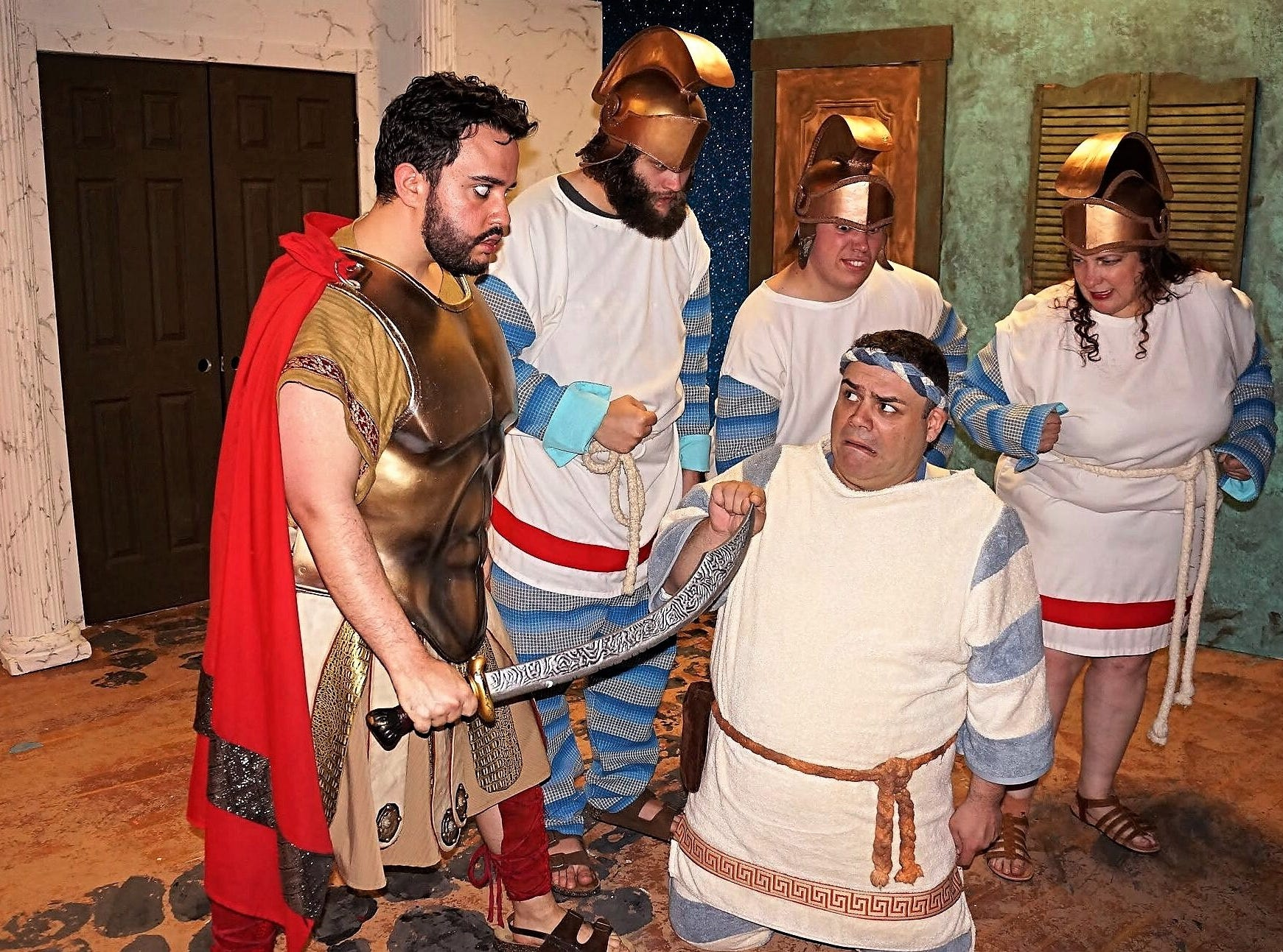 """""""A Funny Thing Happened on the Way to the Forum"""" runs weekends through Sunday, May 12, atSomerset Valley Players,689 Amwell Road (Route 514) in Hillsborough."""