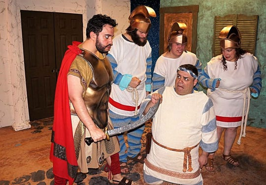 """A Funny Thing Happened on the Way to the Forum"" runs weekends through Sunday, May 12, at Somerset Valley Players, 689 Amwell Road (Route 514) in Hillsborough."