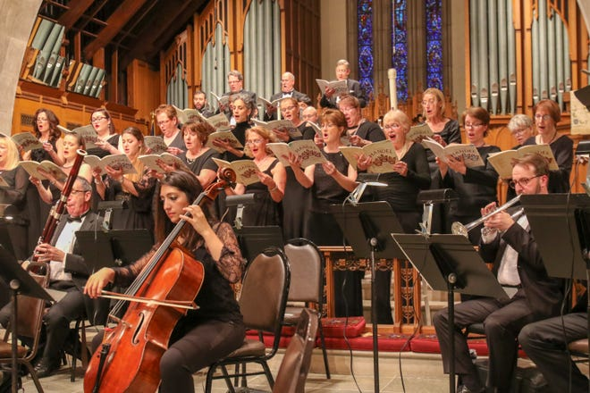 St. Paul's Parish Choir with orchestra.