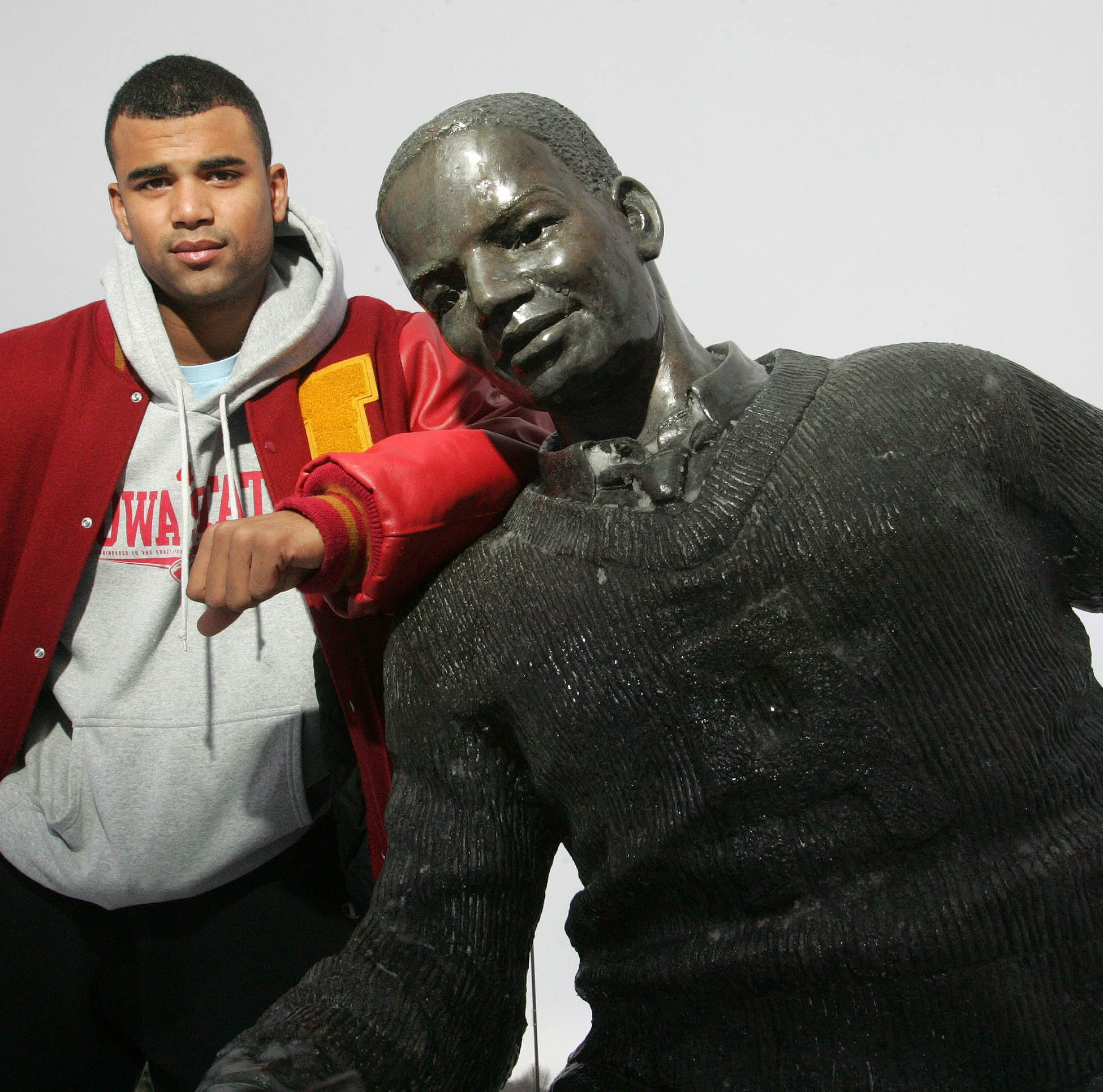 Iconic statue honoring Jack Trice, Iowa State's first black athlete, is moving