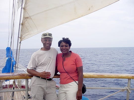 Brent Jones and Gerri Toney pose for photo during their 2002 trip to the Bahamas. The couple was married in 2010, and about two years later, Gerri developed symptoms of Alzheimer's disease.