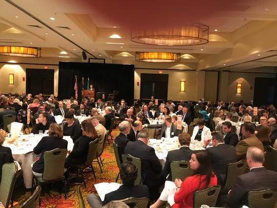 A crowd attends the annual Oakland County Economic Outlook luncheon in Troy on April 26, 2019.