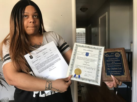 Charlene Lust of Detroit was honored for helping nab a pedophile in 2015. The mother of four is fighting for her job and facing eviction after reporting a noose at the Sterling Heights Assembly plant in February.