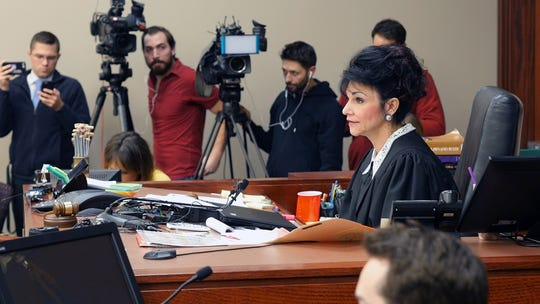 Judge Rosemarie Aqualina in a scene from HBO's 'At the Heart of Gold: Inside the USA Gymnastics Scandal.'