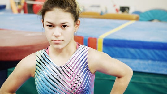 Chelsea Zerfas in a scene from HBO's 'At the Heart of Gold: Inside the USA Gymnastics Scandal.'