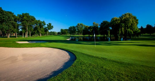 The 14th hole at Detroit Golf Club's North Course.