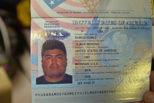Jilmar Ramos-Gomez' passport redacted.