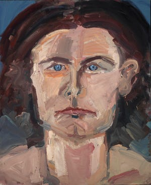 "Nancy Mitchnick painted ""Portrait of Gordie"" in 1973."