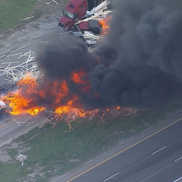 Semi driver charged with 36 felonies in connection with fiery I-70 crash