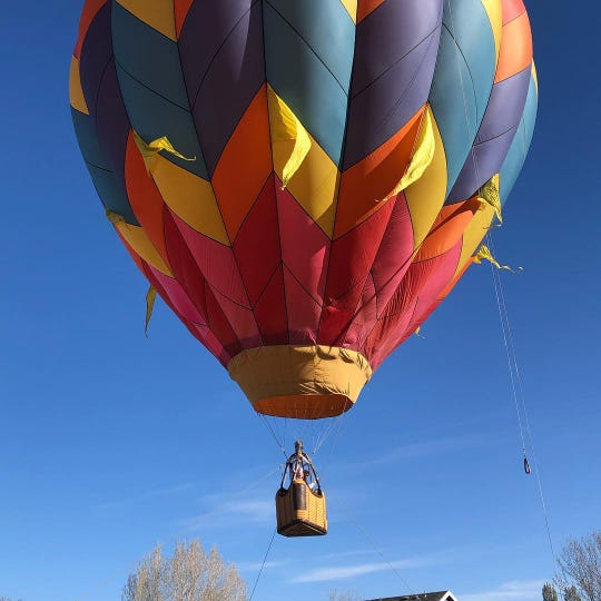 Pearl McMillan, of Windsor, is just days away from turning 100 years old. She celebrated with a hot air balloon ride.