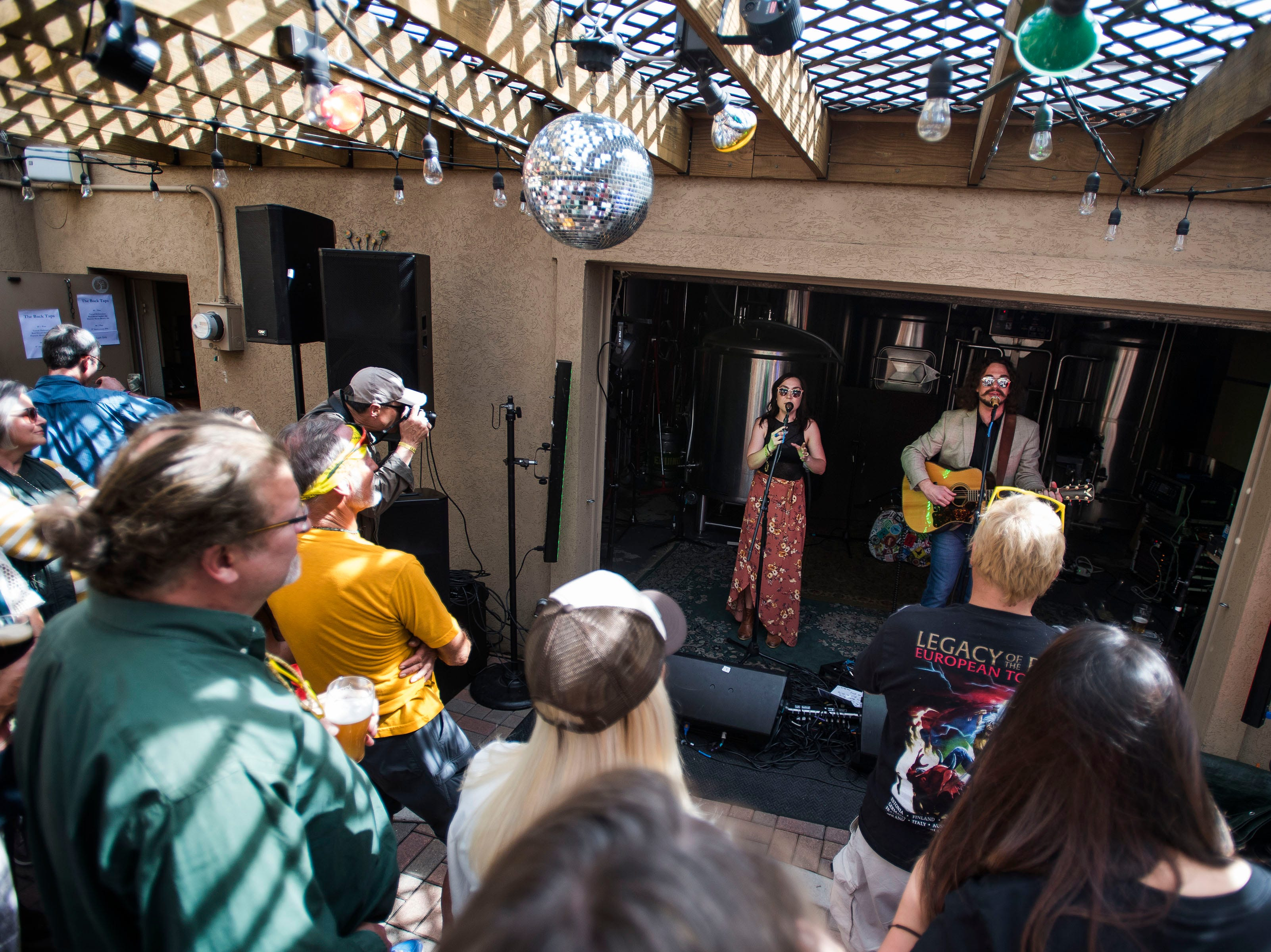 Michael Kirkpartick performs at the Equinox Brewing back patio during the FoCoMX XI music festival on Friday, April 26, 2019, in Fort Collins, Colo.
