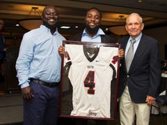 South Fort Myers great Dallas Crawford thanks those who got him to the LCAC Hall of Fame