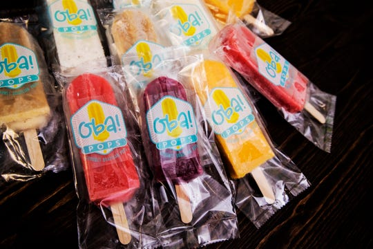 Some of the pops available at Oba! Pops, a new Brazilian ice pop place in Fort Myers. The pops are made in house with all natural ingredients and offers specialty flavors.