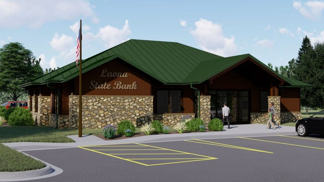 A rendering of the new Laona State Bank facility being constructed in Lakewood. It is expected to open in mid-July.