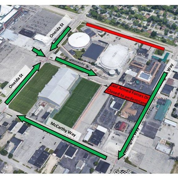 Trump's Green Bay rally: Visitors must enter Resch Center area from west side of Armed Forces Drive