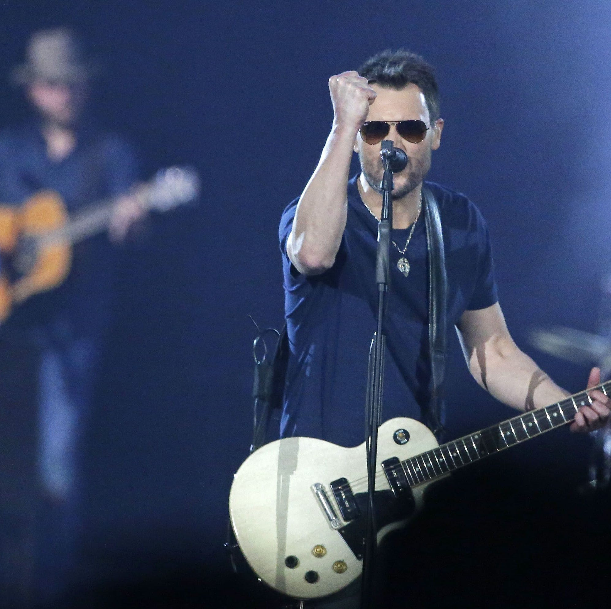 Which songs will Eric Church play in Greenville? Past set lists may provide clues