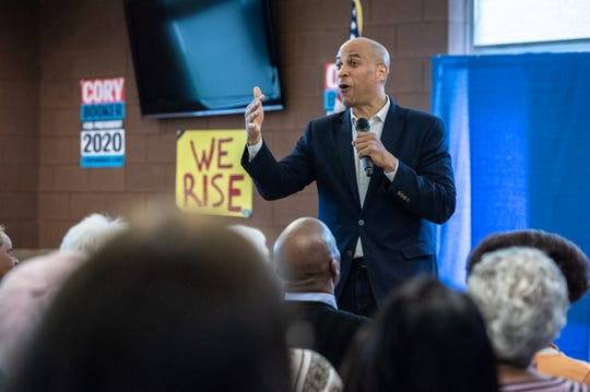 Cory Booker, U.S senator from New Jersey, and a 2020 democratic presidential candidate, held a rally at the C.C Woodson Community Center in Spartanburg during his visit to the city Thursday, Apr. 25, 2019.