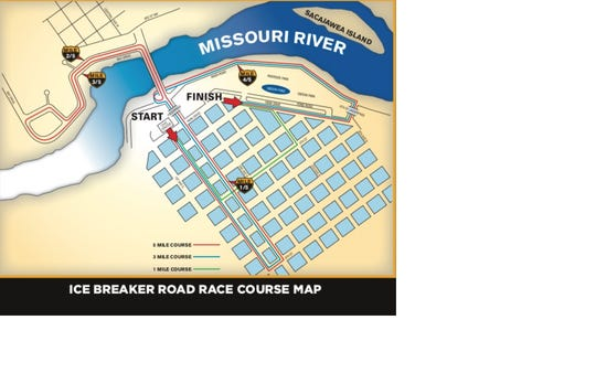 Ice Breaker Road Race course map