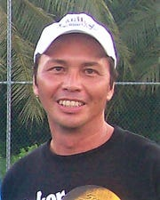The late Bill Camacho started work on the Guam National Tennis Center in 2010 before he died of a heart attack in 2011.