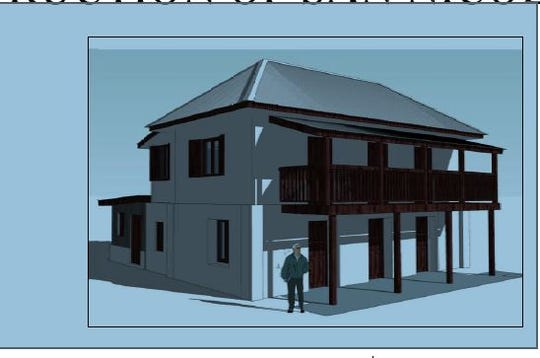 A rendition of the San Nicolas house reconstruction provided by the Guam Preservation Trust.