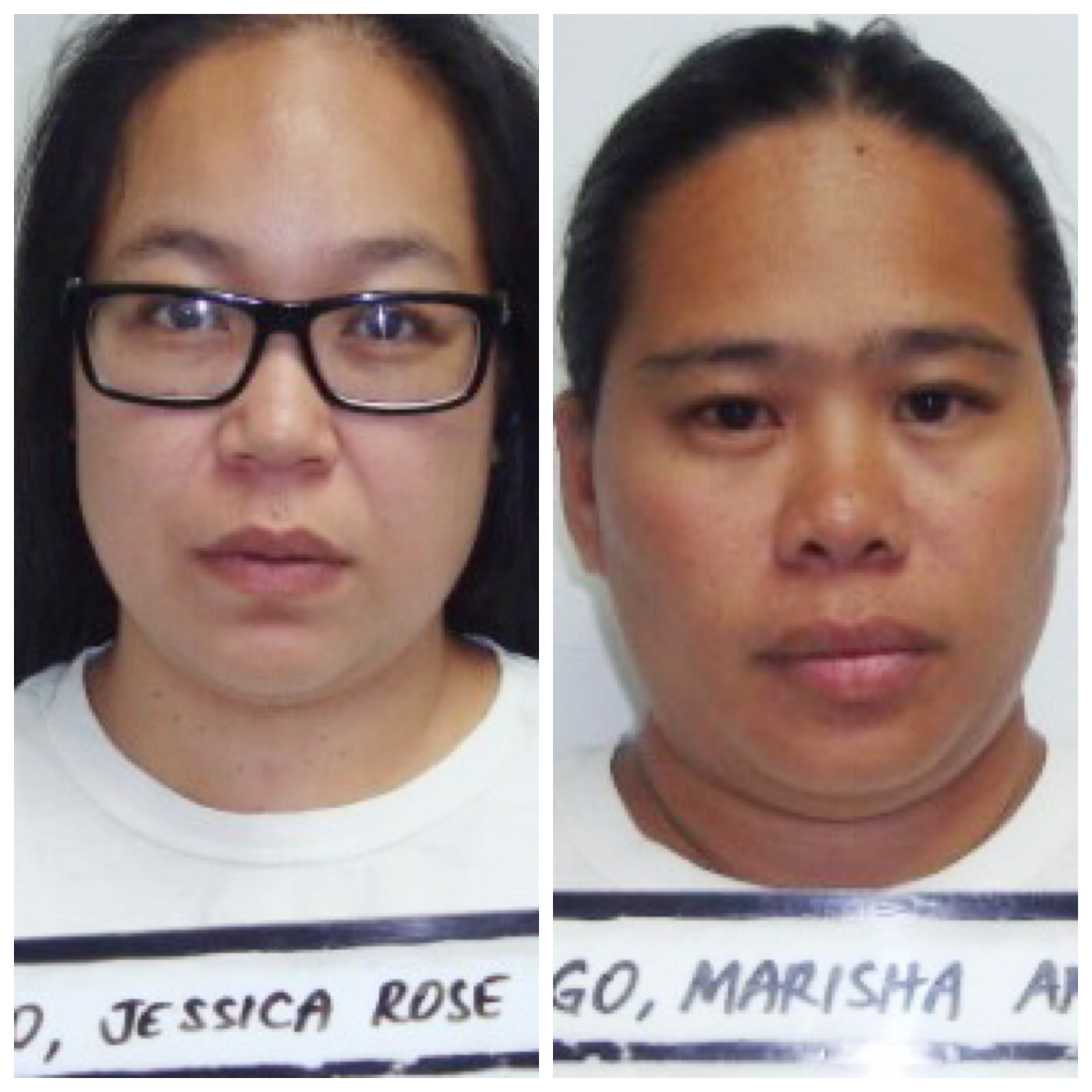 Jessica Rose Tainatongo and Marisha Ann Fegurgur Rabago are accused of stealing over $230K