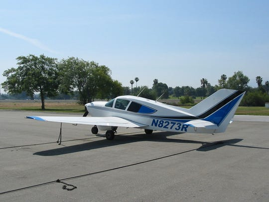 This is a Bellanca Viking, the model of airplane that crashed at the Henderson City-County Airport. Two people were found dead inside.