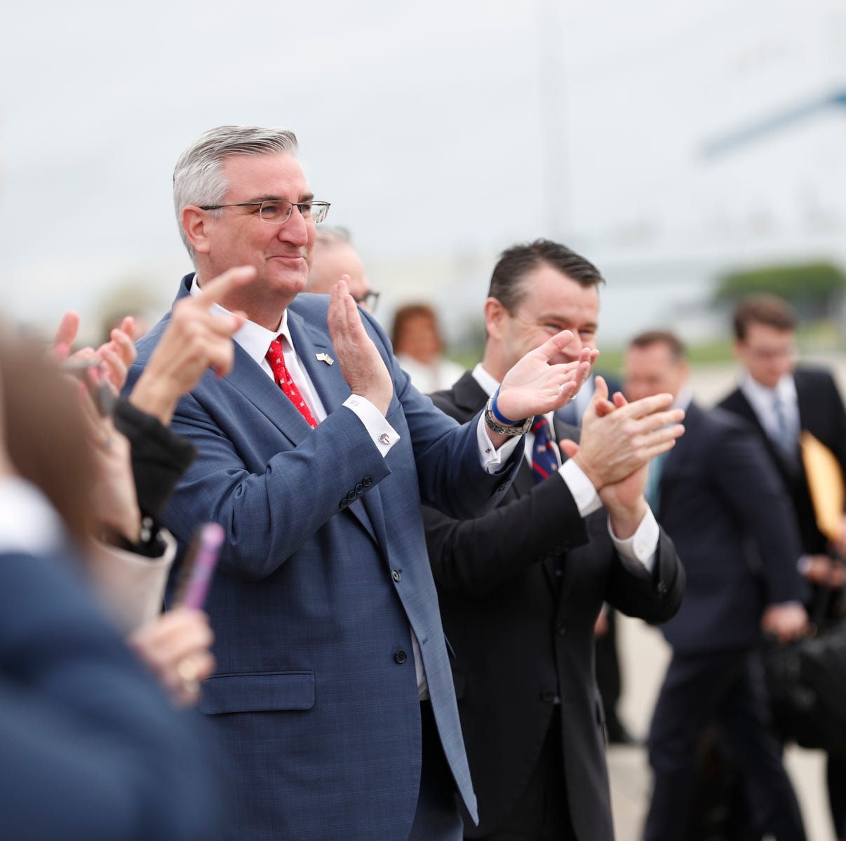With NRA in Indy, Indiana Gov. Holcomb signs bill strengthening 'stand your ground' law