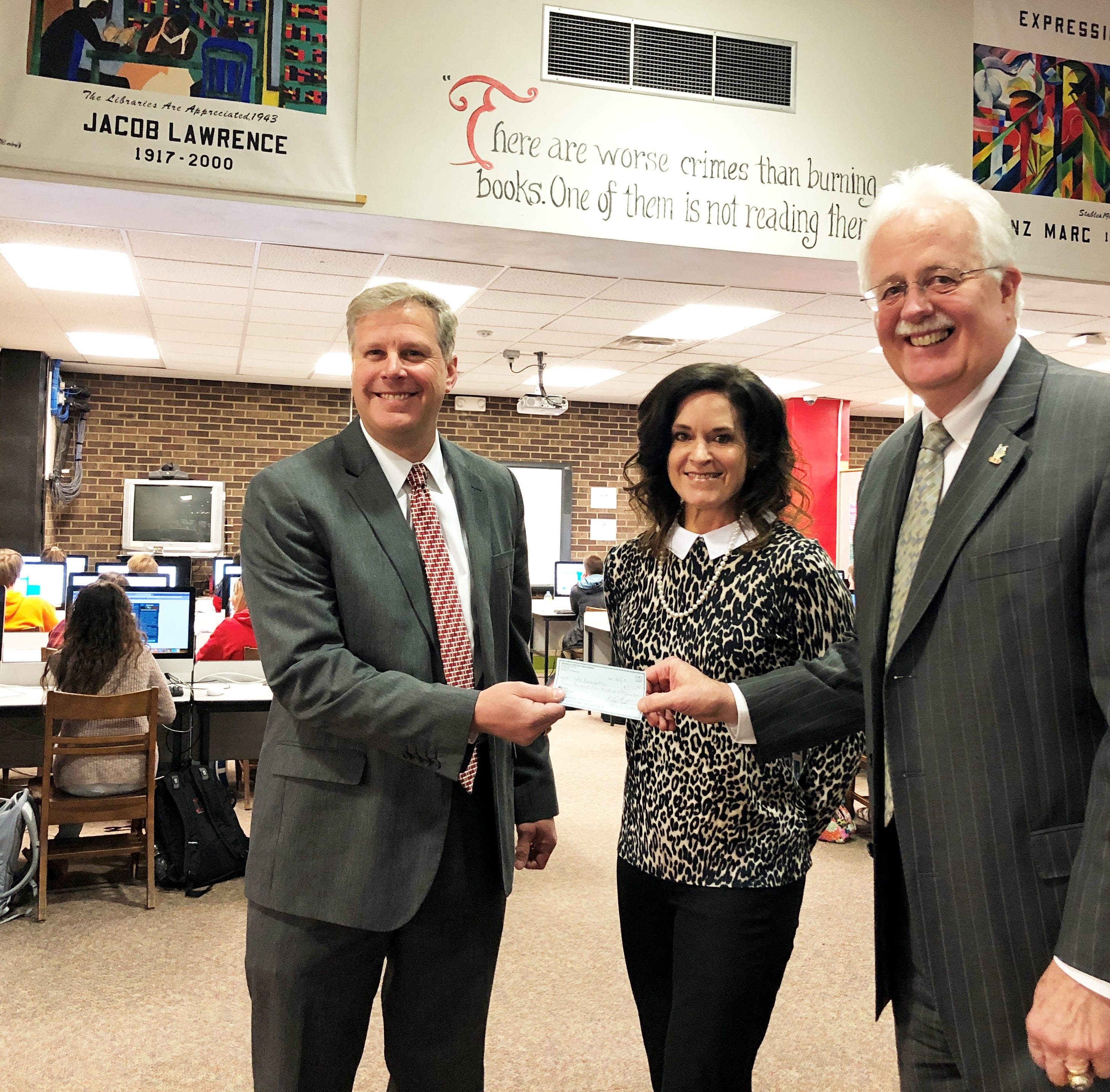 Shopper News blog: Central High Foundation gifted $3,500 check, announces Bobcats Above and Beyond Awards